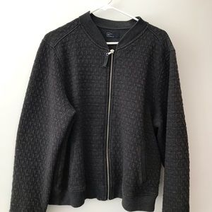 Gap Charcoal Grey Quilted Bomber Jacket XXL